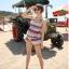 SM-V1-237 ชุดว่ายน้ำแฟชั่น คนอ้วน เด็ก ดารา thumbnail 2