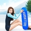 SM-V1-410 ชุดว่ายน้ำแขนยาว พื้นสีดำแขนสีฟ้าลายหัวใจ กางเกงขาสั้นสีดำ thumbnail 3