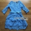 Stephanie Sweet and Chic Baby Blue Lace Dress with Belt L219-89C11 thumbnail 5