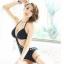 SM-V1-373 ชุดว่ายน้ำวันพีช สีดำ ลายผ้าฉลุสวย เว้าหลังลึก thumbnail 3
