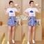 Set cartoon T-shirt embroidered skirt cute by Aris Code thumbnail 4