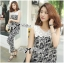 DS-PP-035 Lady Margaret Casual Chic Graphic Print Lace Jumpsuit thumbnail 6