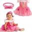 เดรสเจ้าหญิงนิทรา สีชมพูสวย การตัดเย็บดีค่ะ ไซส์ 110,120,130 thumbnail 1