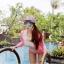 SM-V1-498 ชุดว่ายน้ำแขนยาวสีชมพูขาว เสื้อเปิดร่องอกเซ็กซี่ (เสื้อแขนยาว+บิกินี่) thumbnail 3