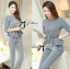 Lady Chloe Houndstooth Peplum Top and Skinny Pants Set L148-85E11 thumbnail 1