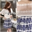 Lady Helena Sweet Casual Lace Top and Printed Skirt Set L162-85E01 thumbnail 4