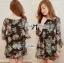Lady Daria Beachy Blossom Print Chiffon Mini Dress L197-65C11 thumbnail 1