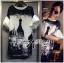 DR-LR-120 Lady Amy Indian Print Slouchy Dress in Black and White thumbnail 11