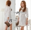 DR-LR-106 Lady Yuri All White Glam Chic Shirt Dress thumbnail 1