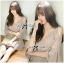 DR-LR-294 Lady Jane Classic Glam Smock Chiffon Dress in Beige thumbnail 2