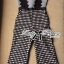 Lady Rachel Mixed Check Fabric Jumpsuit L143-89C17 thumbnail 4