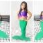 NA007 หางนางเงือกน้อง นะโม Kid Play สีเขียว ม่วง ผ้ายืดแบบชุดว่ายน้ำ ทรงเสื้อแบบมีระบายฟรุ้งฟริ๊ง thumbnail 1