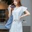 Lady Jill Geometry Flared-Sleeved Brocade Denim Dress L193-69C05 thumbnail 10