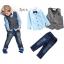 BS010 ชุดเสื้อเชิ้ตสีฟ้า กางเกงยีนส์ + เสื้อกั๊ก thumbnail 1