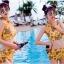 SM-V1-383 ชุดว่ายน้ำเอวสูง เซ็ต 2 ชิ้น สีเหลืองลายสวย thumbnail 10