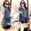 Jeans jacket female spring Korean lace long-sleeved shirt by Aris Code thumbnail 1
