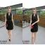 Dress Black เดรสเดินเส้นขาวดำ thumbnail 1