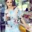 Lady Katie Dreamy Colourful Printed Layered Chiffon Top and Satin Shorts Set L166-79C11 thumbnail 2