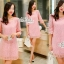 Annie dress pink lace embroidery Lady by Aris Code ุA254-654705 thumbnail 6
