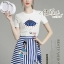 Set cartoon T-shirt embroidered skirt cute by Aris Code thumbnail 2