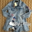 DR-LR-260 Lady Amy Glittering Sequin Snoopy Denim Shirt Mini Dres thumbnail 10