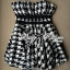 DR-LR-132 Lady Nicole Sexy Glam Strapless Houndstooth Dress thumbnail 11