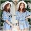 DR-LR-096 Lady Eugene Baby Blue Bohemian Dress thumbnail 1