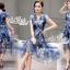 Korea Cocktail Dresses blue floral print by Aris Code thumbnail 12
