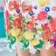 playsuit ลูกไม้ฉลุลายดอก ไล่layerสีสันสดใส thumbnail 6