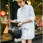 DR-LR-225 Lady Vanessa Classic Insert Lace Shirt Dress in White thumbnail 11