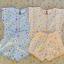 ไซส์ 0-3 เดือน เสื้อผูกหลังเด็กอ่อน กางเกงขาสั้น แพ็ค 2 ตัว