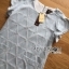 Lady Jill Geometry Flared-Sleeved Brocade Denim Dress L193-69C05 thumbnail 21