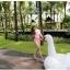 SM-V1-498 ชุดว่ายน้ำแขนยาวสีชมพูขาว เสื้อเปิดร่องอกเซ็กซี่ (เสื้อแขนยาว+บิกินี่) thumbnail 9