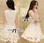 DR-LR-127 Lady Rachel Sweet Angel Flowery Dress in White thumbnail 10