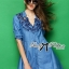 DR-LR-158 Lady Rosalie Smart Chic Embroidered Denim Shirt Dress thumbnail 1