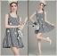 Lady Jennifer Summery Pretty Daisy Embroidered Plaid Dress L265-6901 thumbnail 1