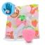 I114 สกุชชี่ Mini strawberry I-bloom สีชมพู ขนาด 6cm ลิขสิทธิ์แท้ ญี่ปุ่น thumbnail 1