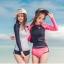 SM-V1-578 ชุดว่ายน้ำแขนยาว กางเกงขาสั้นสีชมพูบานเย็นสวย ๆ thumbnail 10