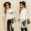 Lady Lindsey Insert Lace Cotton Long Shirt in White thumbnail 1
