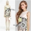 DR-LR-247 Lady Eleonore Versace Mixed Print Sleeveless Dress in Pastel thumbnail 2