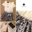 DS-PP-034 Black&white Printed Off-shoulder Playsuit thumbnail 8