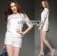 Lady Basic Lace Blouse and Hot Pants Ensemble Set L182-79C13 thumbnail 2