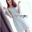 Lady Jill Geometry Flared-Sleeved Brocade Denim Dress L193-69C05 thumbnail 18