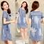Korean denim embroidered Vintage dress by Aris Code thumbnail 7