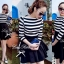 DR-LR-160 Lady Ballerina Stripe Black&White Mini Dress thumbnail 3