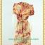 2057ชุดแซกเสื้อผ้าคนอ้วนคอบัวผ้าพิมพ์ลายกระโปรงยาวทรงย้วยสวยหวานด้วยสไตล์หวานเรียบร้อย thumbnail 4