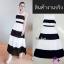 Maxi dress ผ้าชีฟอง แขนกุด มีซับใน สีทูโทน thumbnail 3