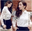Lady Blaire Floral Embroidered Lace Shirt in White L274-7509 thumbnail 2
