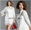 Lady Jane Classic Feminine Combined Lace Shirt Dress thumbnail 3