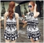 DS-PP-039 Lady Ashley Printed Playsuit in Black and White thumbnail 2